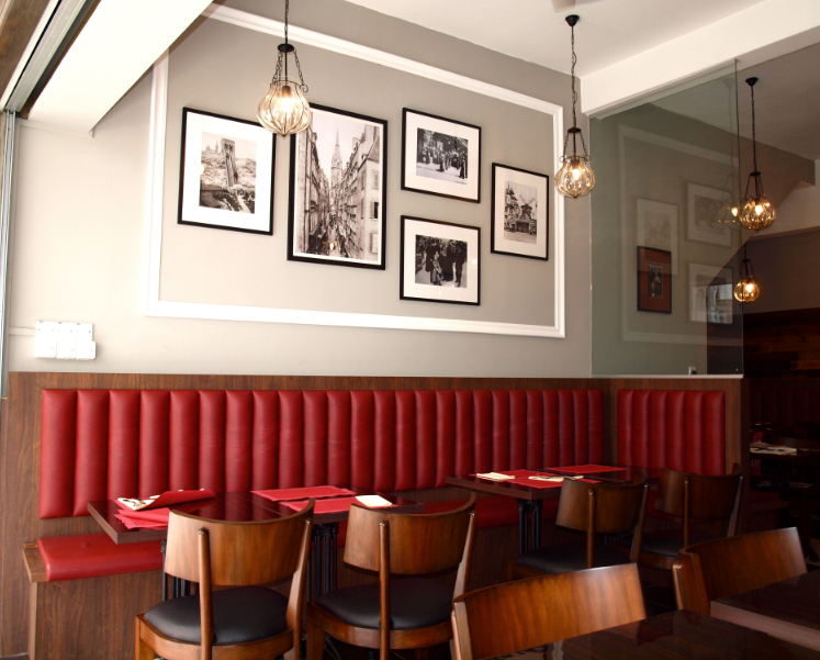 Commercial interiors french bistro igx interior design for Commercial interiors