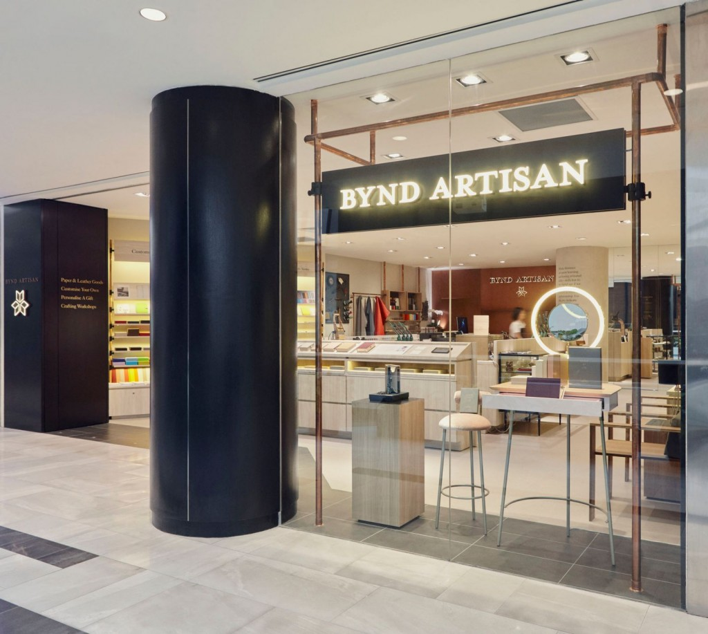 Bynd Artisan Raffles City shop, window display area.