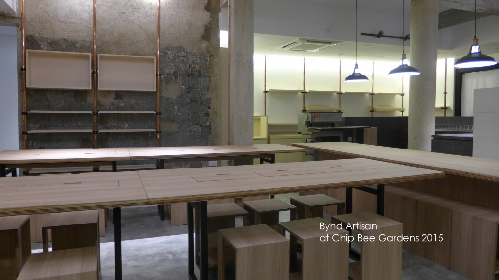 Raw state of Workshop area of Bynd Artisan, Chip Bee store before opening.