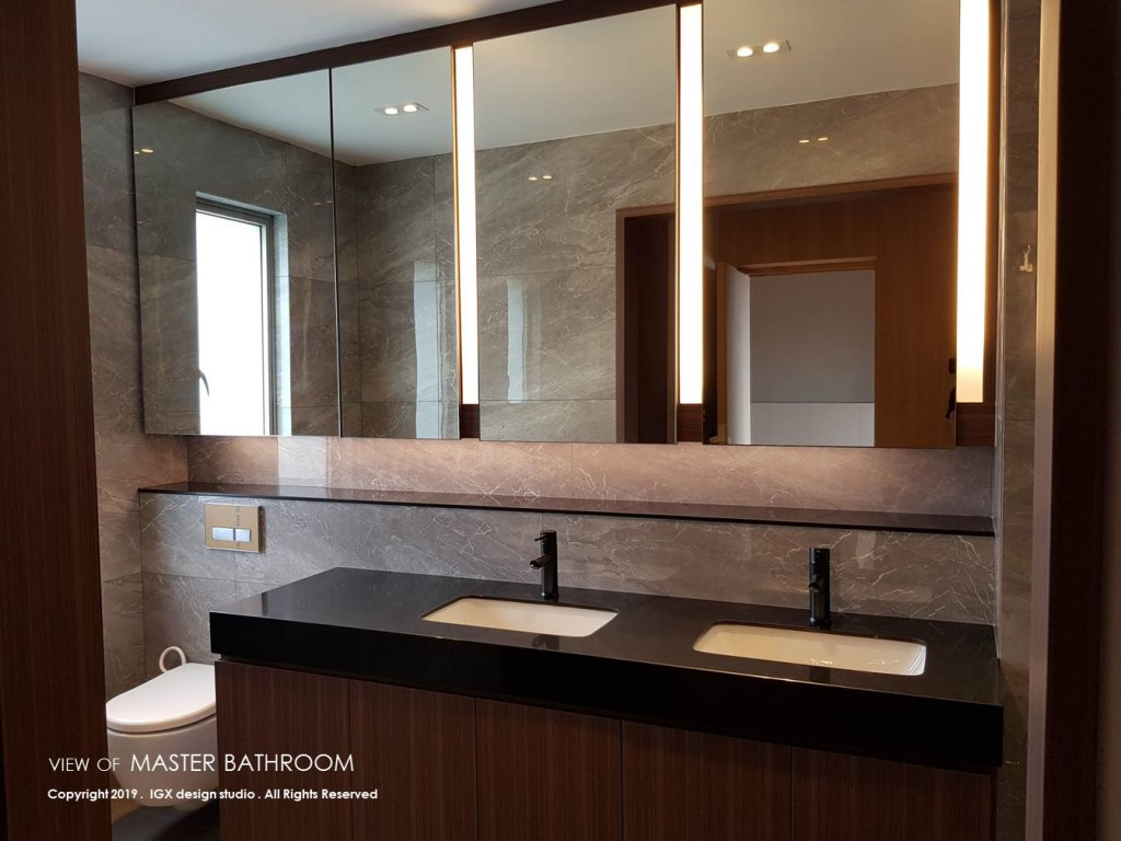 View of Master Bathroom at Residence at Nassim Hill.