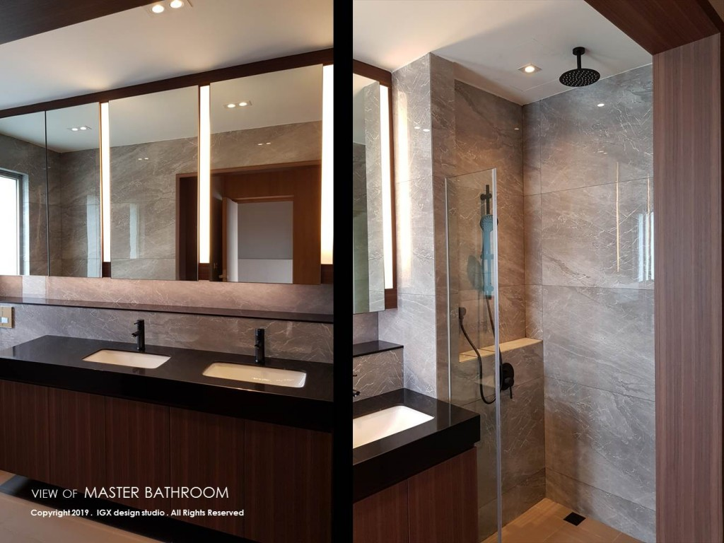 View of Master Bathroom - Residence at Nassim Hill.