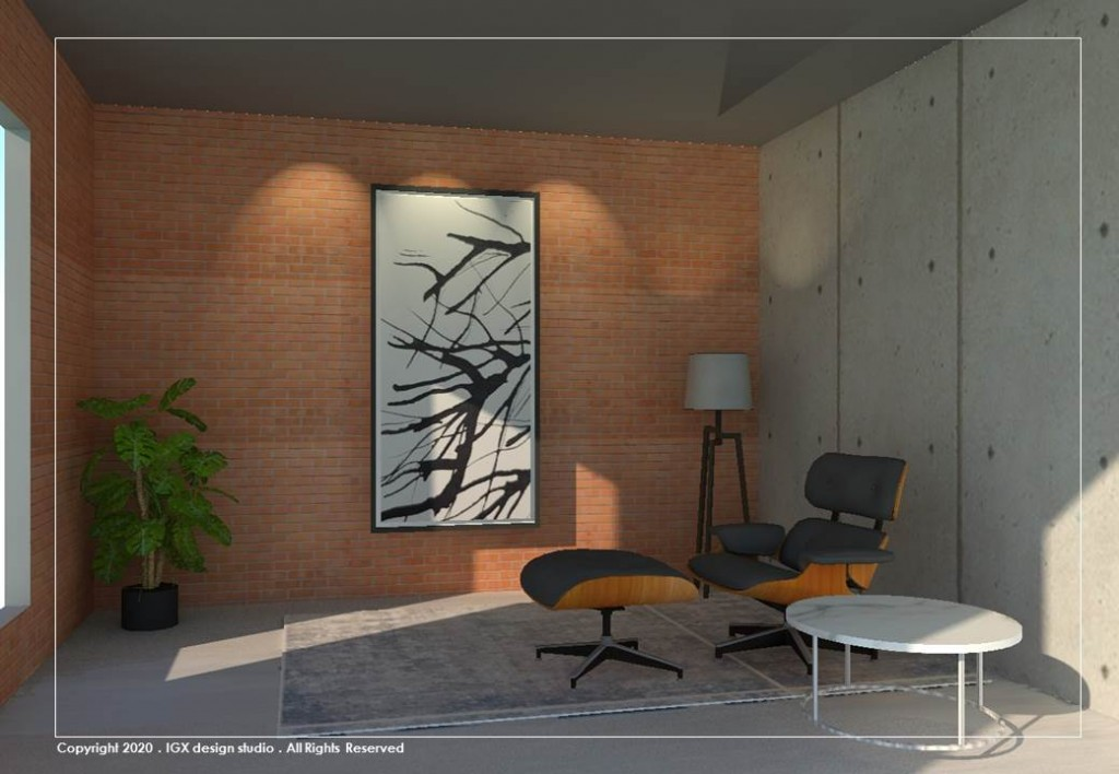 Artwork Displyed - Interior Setting